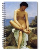Seated Bather Spiral Notebook