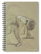 Seated Dancer Adjusting Her Shoes Spiral Notebook