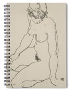Seated Female Nude, 1918 Spiral Notebook