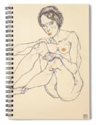 Seated Female Nude Spiral Notebook