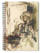 Seated Figure Woman Seated, Wearing Spiral Notebook