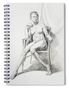 Seated Nude Model Study Spiral Notebook