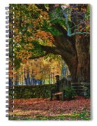 Seated Under The Fall Colors Spiral Notebook
