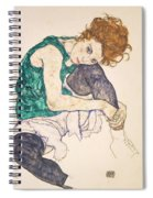 Seated Woman With Legs Drawn Up. Adele Herms Spiral Notebook
