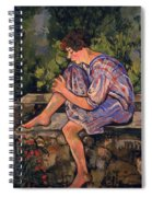 Seated Young Woman Spiral Notebook