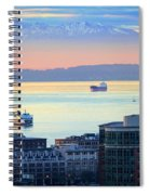 Seattle And Elliott Bay Spiral Notebook