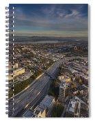 Seattle And Rainier Golden Light Spiral Notebook