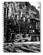 Seattle City Light Train In Bw Spiral Notebook