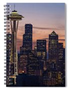 Seattle Cityscape Morning Light Spiral Notebook