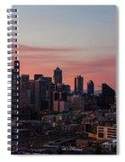 Seattle Cityscape Sunrise Spiral Notebook
