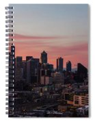 Seattle Cityscape Sunrise Spiral Notebook