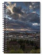 Seattle Dramatic Dusk Spiral Notebook