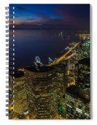 Seattle Dusk Colors Spiral Notebook