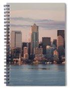 Seattle Dusk Skyline Spiral Notebook