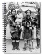 Seattle Eskimo Family Spiral Notebook