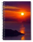 Seattle Fiery Sunset Spiral Notebook