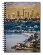 Seattle From The Air Spiral Notebook