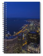 Seattle Moonset Glow Spiral Notebook