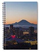 Seattle Morning Glow Spiral Notebook