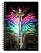 Seattle New Year Spiral Notebook