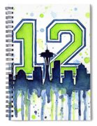 Seattle Seahawks 12th Man Art Spiral Notebook