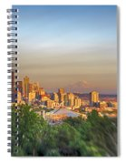 Seattle Skyline Lens Baby Hdr Spiral Notebook