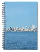 Seattle Skyline Panorama Spiral Notebook