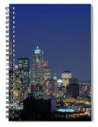 Seattle Skyline With Space Needle Spiral Notebook