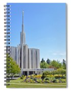 Seattle Temple - Horizontal Spiral Notebook