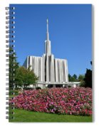 Seattle Temple Spiral Notebook
