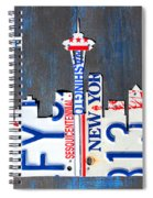 Seattle Washington Space Needle Skyline License Plate Art By Design Turnpike Spiral Notebook
