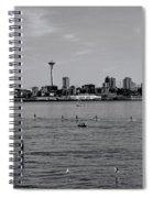 Seattle Waterfront Bw 2 Spiral Notebook