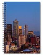 Seattle Winter Evening Panorama Spiral Notebook