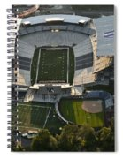Seattle With Aerial View Of The Newly Renovated Husky Stadium Spiral Notebook