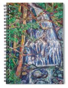 Secluded Waterfall Spiral Notebook