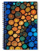 Second Chances - Abstract Art By Sharon Cummings Spiral Notebook