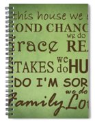 Second Chances In This House Spiral Notebook