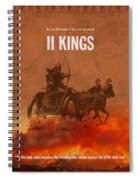 Second Kings Books Of The Bible Series Old Testament Minimal Poster Art Number 12 Spiral Notebook