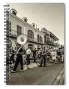 Second Line Monochrome Spiral Notebook