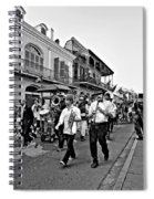 Second Line Parade Bw Spiral Notebook