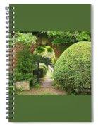 Secret English Garden Spiral Notebook