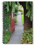 Secret Garden Door Spiral Notebook