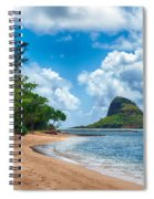 Secret Island Beach And Chinaman's Hat Spiral Notebook