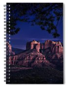 Sedona Cathedral Rock Post Sunset Glow Spiral Notebook