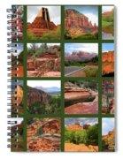 Sedona Spring Collage Spiral Notebook