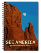 See America - Coconino National Forest Spiral Notebook