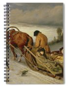 Seeing Off The Dead, 1865 Oil On Canvas Spiral Notebook