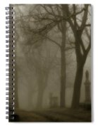 A Graveyard Seeped In Fog Spiral Notebook
