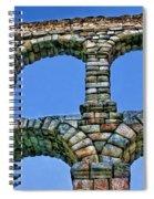 Segovia Aqueducts Blue By Diana Sainz Spiral Notebook
