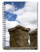 Segovia Wall Against Blue Sky Spiral Notebook